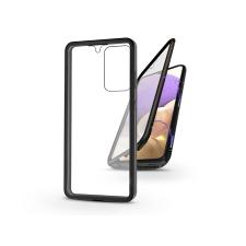 Haffner Samsung A325F Galaxy A32 LTE mágneses, 2 részes hátlap előlapi üveggel - Magneto 360 - fekete tok és táska