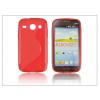 Haffner Samsung i8260 Galaxy Core szilikon hátlap - S-Line - piros