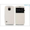 Haffner Samsung SM-G900 Galaxy S5 S-View Flexi oldalra nyíló flipes tok - fehér