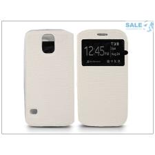 Haffner Samsung SM-G900 Galaxy S5 S-View Flexi oldalra nyíló flipes tok - fehér tok és táska