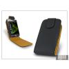 Haffner SLIGO flipes bőrtok - Samsung i8000 Omnia II - fekete