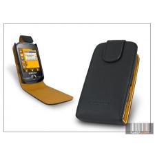 Haffner SLIGO flipes bőrtok - Samsung S3650 Corby - fekete tok és táska