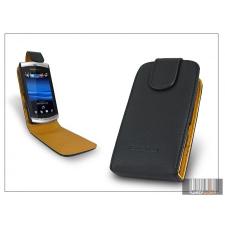 Haffner SLIGO flipes bőrtok - Sony Ericsson Vivaz - fekete tok és táska