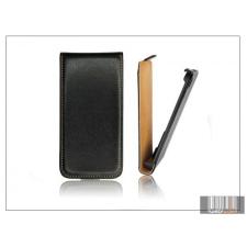 Haffner Slim Flip bőrtok - Samsung i8260 Galaxy Core - fekete tok és táska