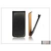 Haffner Slim Flip bőrtok - Samsung SM-G900 Galaxy S5 - fekete