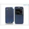 Haffner Sony Xperia E4G (E2003) S-View Flexi oldalra nyíló flipes tok - kék