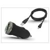 Haffner Univerzális USB szivargyújtó töltő adapter + micro USB töltőkábel - 5V/1A - fekete
