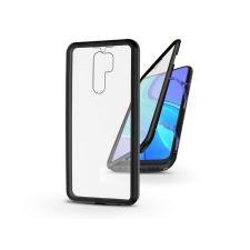 Haffner Xiaomi Redmi 9 mágneses, 2 részes hátlap előlapi üveggel - Magneto 360 - fekete tok és táska