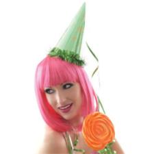 Hair Club Cleopatra Party paróka, UV pink jelmez