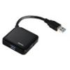 Hama 12190 USB 3.0 HUB,1:4 Buspow. fekete