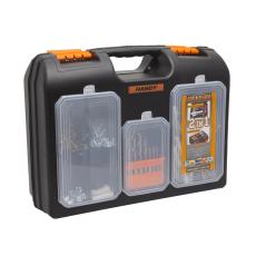 Handy 2 az 1-ben műanyag fúró + alkatrész tároló táska