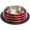 Happet bordó kutyatál ezüst csíkokkal (2.4 l / 25 cm)