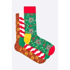 Happy Socks - Zokni Xmas (3 darab) - többszínű