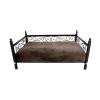HAPPYDREAMER MAKS ágy matraccal, szín: barna nr 2 73x53x34cm + Ajándék FurTrim szőrápoló fésű kutyáknak és macskáknak - M méret 66mm!