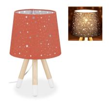 Háromlábú asztali lámpa csillagmintás gyerekeknek piros 10028043_rt világítás