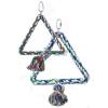 Háromszög alakú madárhinta kötélből (25 cm)