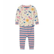 Hatley fiú pizsama, bézs, 58-69 hálóing, pizsama