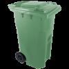 Háztartási szemetes kuka, zöld 240 L (11965)