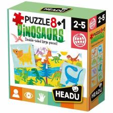 Headu Puzzle 8+1 Dinók (IT22243) társasjáték