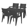 Hecht Anegada grafit kerti bútor szett 4+1