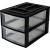 heidrun A4 2 fiókos tároló, Fekete