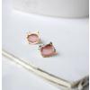 Hello Kitty fülbevaló kövekkel