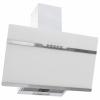 HelloShop Fehér rozsdamentes acél és edzett üveg fali páraelszívó 60 cm - Fehér parcel - parcel  munkanap