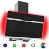 HelloShop Rozsdamentes acél és edzett üveg RGB páraelszívó LED-del 60 cm - Fekete parcel - parcel  munkanap