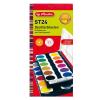 Herlitz Hungária Kft. Herlitz Vízfesték/24 szín + fedőfehér, feliratozható, fedele festékkeverő palettaként funkcionál