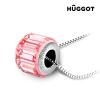 Hûggot Pink Wheel Hûggot ródiumozott nyakék Swarovski® kristályokkal 45 cm