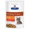 Hill's Prescription Diet 12x85g Hill's Prescription Diet k/d Kidney Care macskatáp - csirke