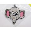 Hímzett elefánt fej