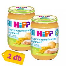 Hipp BIO kukorica burgonyakrémben pulykahússal, 5 hó+ (2x190 g) bébiétel