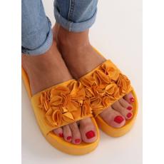 HLFCollection Női papucs, strandpapucs (CK148P), sárga