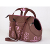Hobbydog Kutya hordozó táska - barna, virágmintás