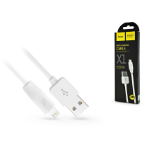 Hoco Apple iPhone Lightning USB töltő- és adatkábel 3 m-es vezetékkel - HOCO X1 Lightning Cable - 2.1A - fehér kábel és adapter