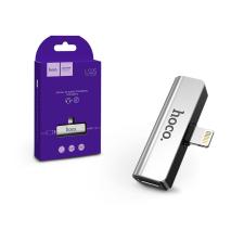 Hoco HOCO lightning + 3.5 mm jack adapter egyidőben történő töltéshez és zenehallgatáshoz - 5V/2A - HOCO LS25 - ezüst mobiltelefon, tablet alkatrész
