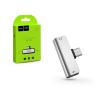 Hoco HOCO USB Type-C + 3.5 mm jack adapter egyidőben történő töltéshez és zenehallgatáshoz - HOCO LS26 2in1 Converter - ezüst
