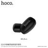 Hoco kis vezeték nélküli Bluetooth fülhallgató mikrofonnal Apple iPhone - fekete