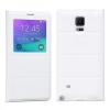 Hoco - Original series bőr ablakos aktív Samsung Note4 könyv tok - fehér