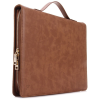 Hoco - Portfolio series anitkolt bőr iPad Pro 12.9 tablet hordtáska + tok - barna