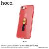 Hoco tok textil tartóval Apple iPhone 7 Plus / 8 Plus - piros