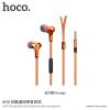 Hoco univerzális fülhallgató jack konektorral és mikrofonnal Apple készülékekhez - narancssárga