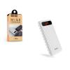 Hoco Univerzális hordozható, asztali akkumulátor töltő - HOCO Mige B20A Power Bank - 2xUSB - 20.000 mAh - white