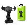 Hoco Univerzális műszerfalra/szélvédőre helyezhető PDA/GSM autós tartó - HOCO CA40 Car Holder - fekete