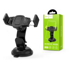 Hoco Univerzális műszerfalra/szélvédőre helyezhető PDA/GSM autós tartó - HOCO CA40 Car Holder - fekete mobiltelefon kellék