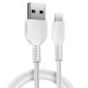 Hoco X20 Apple Lightning kábel 1.0m, fehér, max.2.4A