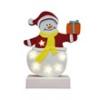 Home by Somogyi CDM 62 LED-es asztali filc figura, hóember dobozzal