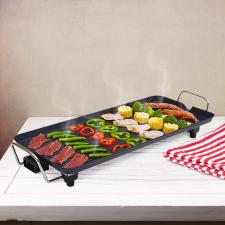 Hometime elektromos grillsütő, asztali grill 800-2000W állítható hőmérséklettel grillsütő