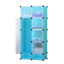 Hoppline Műanyag elemes szekrény, kék bútor